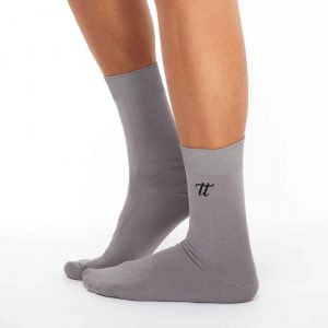 Men's warm cotton socks dark grey