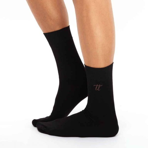 Men's warm cotton socks black