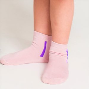Kids mercerized cotton socks pink