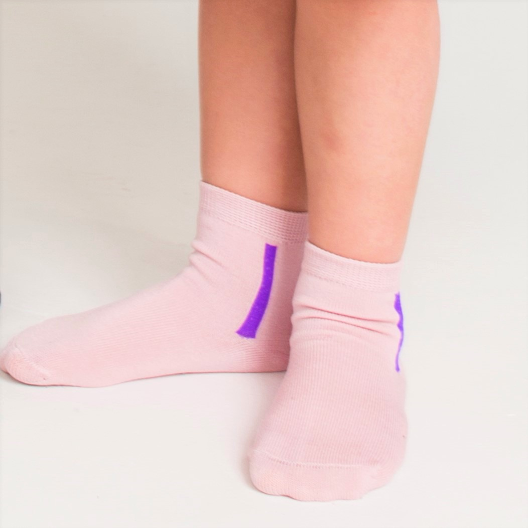 Kids mercerized cotton socks pink