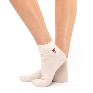 Women's warm cotton socks nude