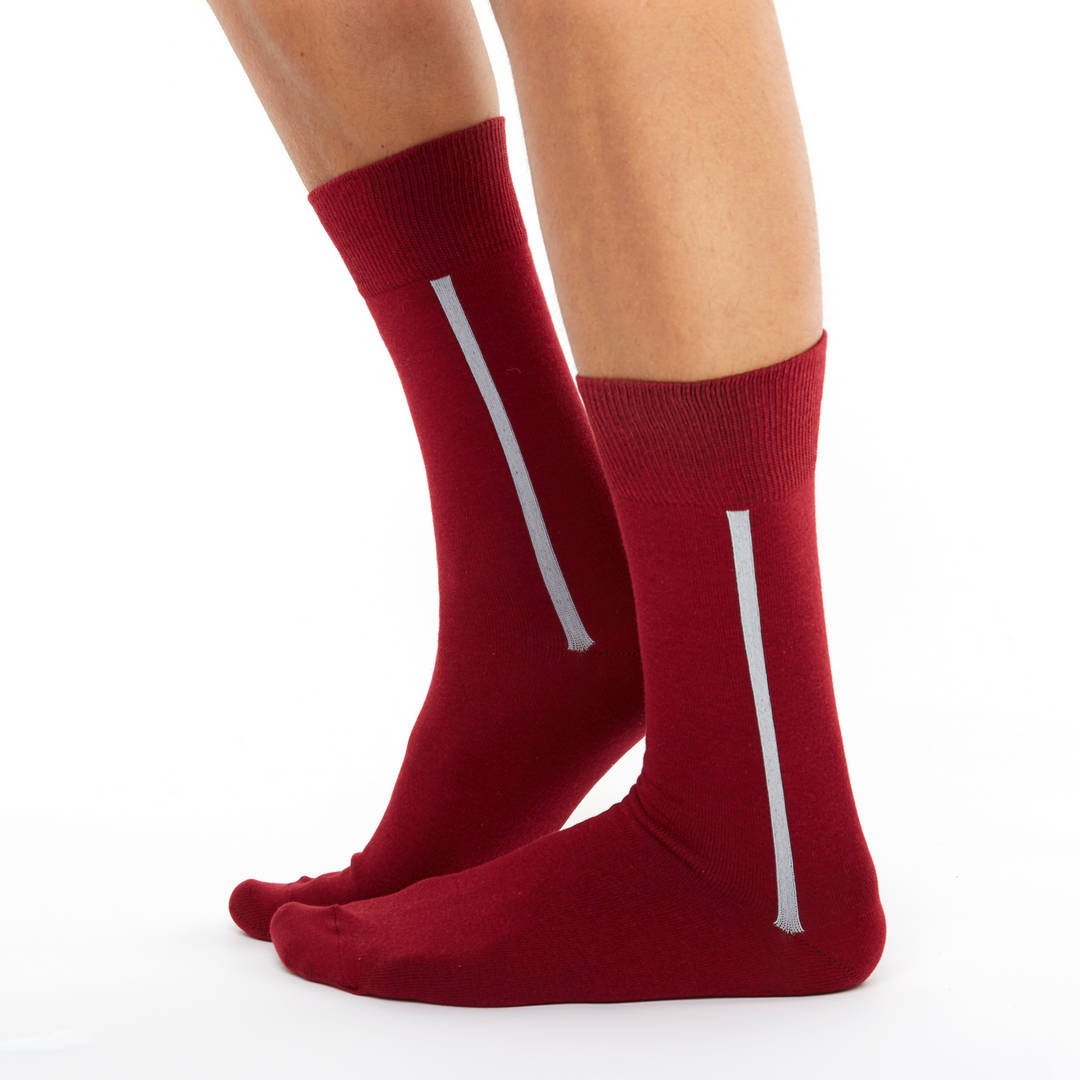 52c54cdce4e59 Men's maroon fashion cotton socks   Chusette