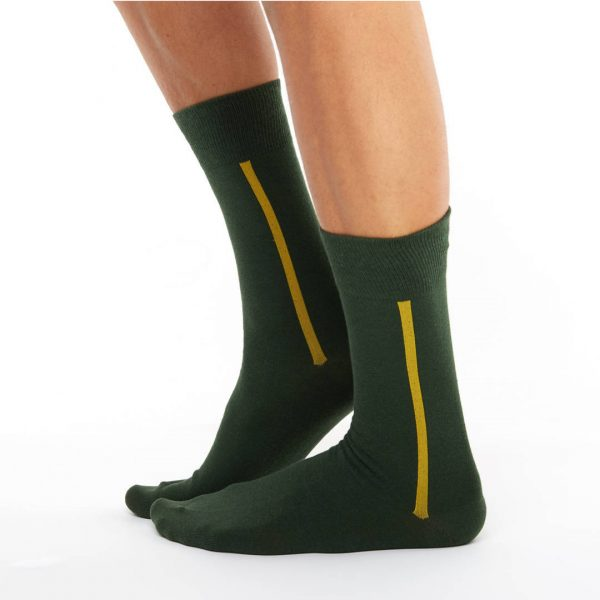 Men's warm cotton socks green