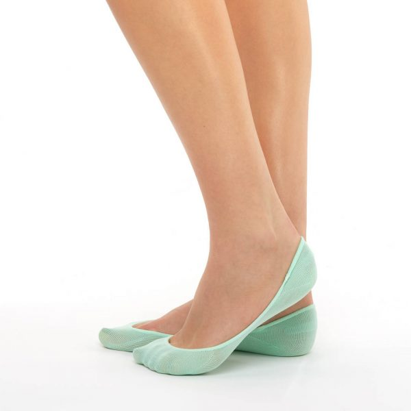 Women's extra invisible socks green