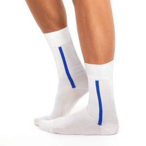 Men's mercerized cotton long socks white