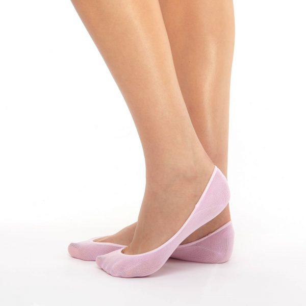 Women's extra invisible socks rose