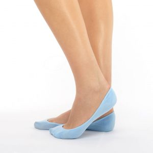 Women's extra invisible socks blue
