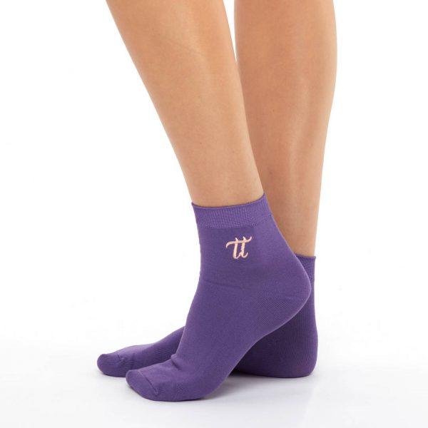 Women's warm cotton socks violet