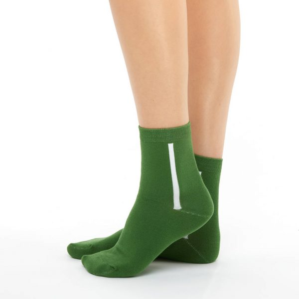 Women's warm cotton socks green