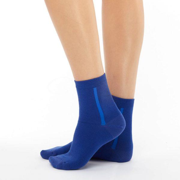Women's warm cotton socks dark blue