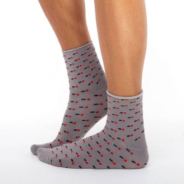 Men's bamboo socks boots grey balls