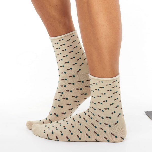 Men's bamboo socks boots beige balls