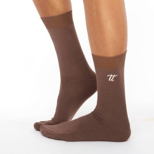 Men's warm cotton socks brown