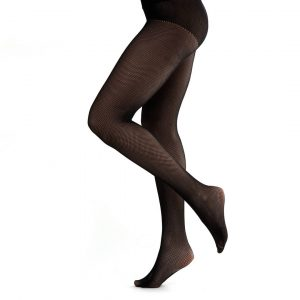 Knitted fashion tights with a pattern