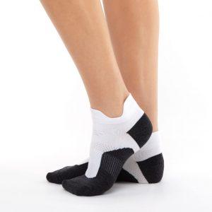 Sport socks nylon white and black
