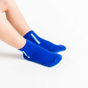 Kids warm cotton socks blue