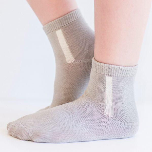 KID'S mercerized cotton socks light grey