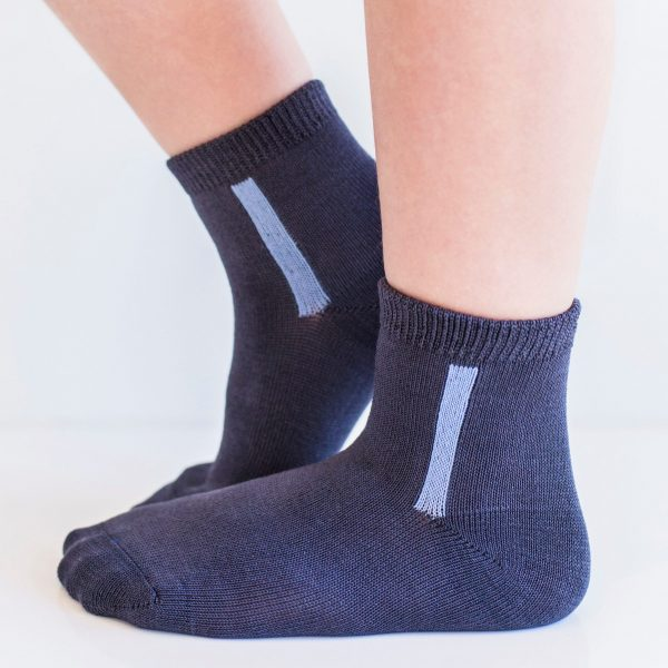 KID'S mercerized cotton socks dark grey