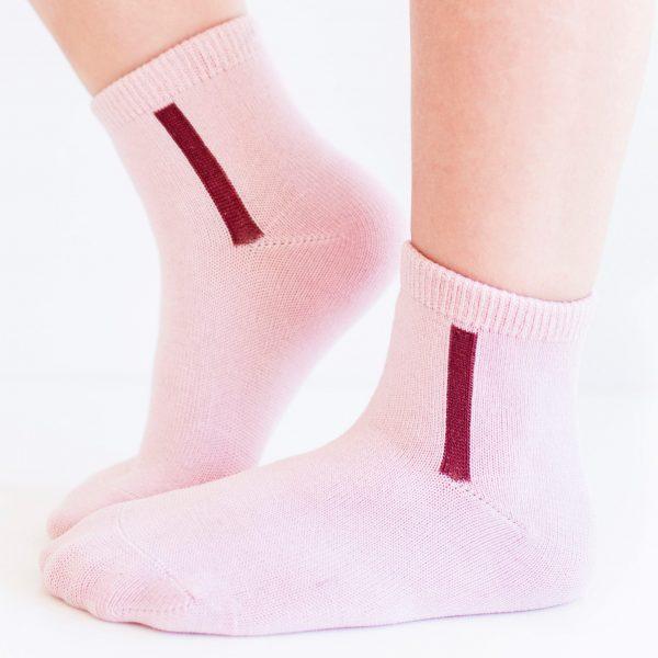 KID'S mercerized cotton socks light pink