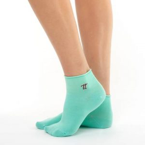 Women bamboo mint colour socks