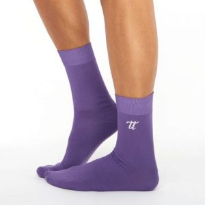 Men's warm cotton socks dark violet