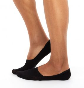 2 pairs invisible socks black