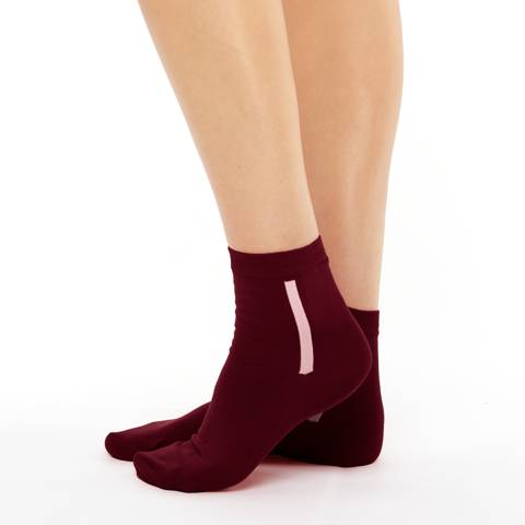 Women's warm cotton socks burgundy