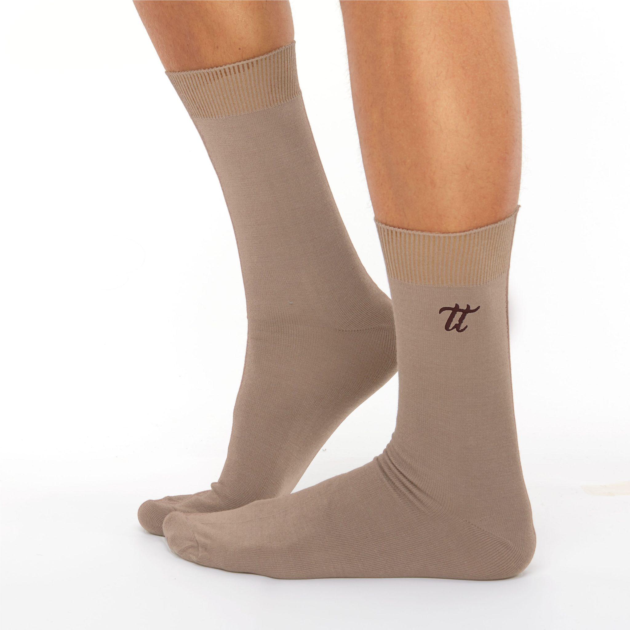 Men's warm cotton socks nude