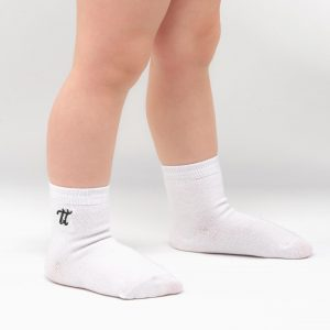 Bamboo Baby socks white black