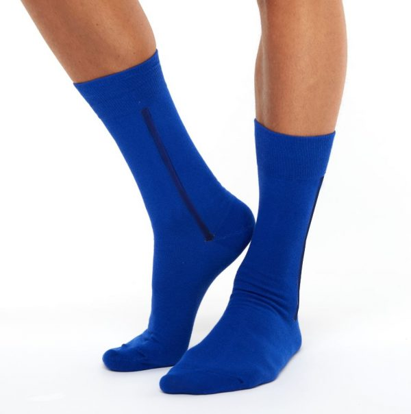 Men's warm cotton socks dark blue