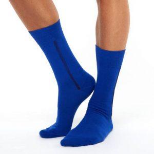 Men's warm cotton socks dark blue