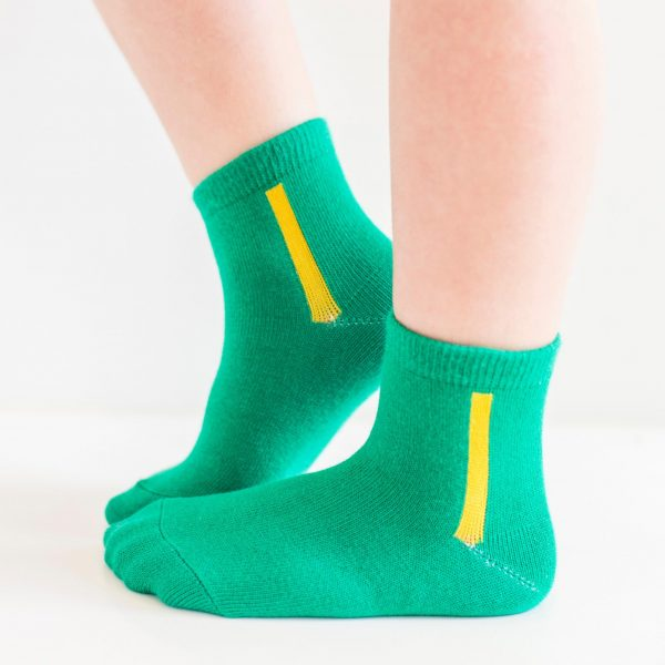 Kids warm cotton socks green