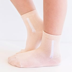 Kids mercerized cotton socks apricot