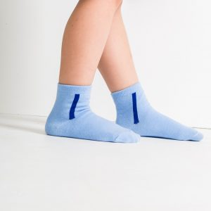 Kids warm cotton socks light blue
