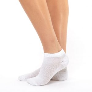 Sport socks soft cotton white