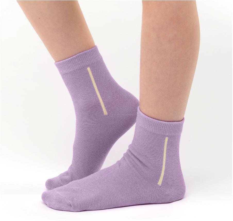 Girl's warm cotton socks light violet