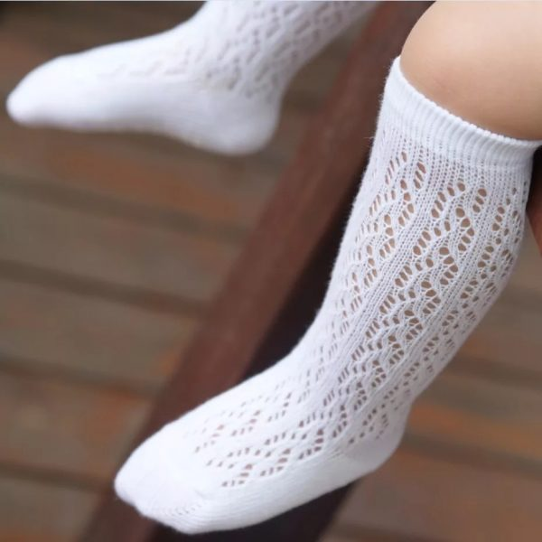 Cotton lace Knee high socks
