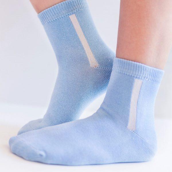Kids mercerized cotton socks blue