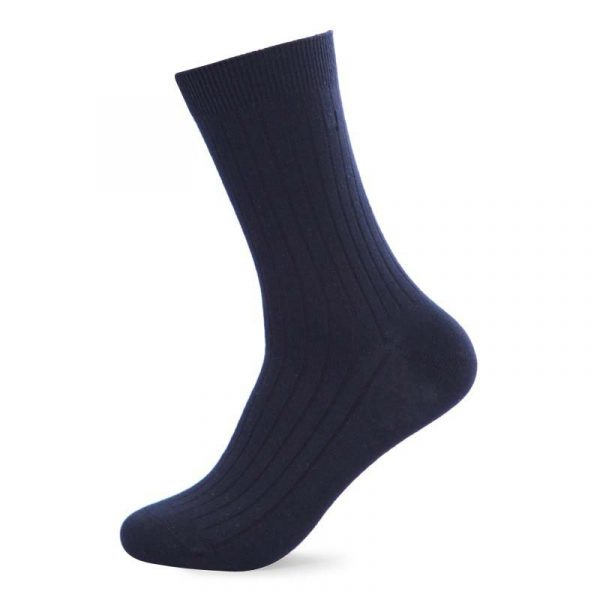 Pure cotton socks navy blue colour
