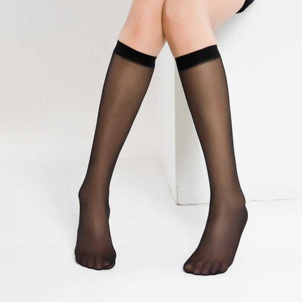 Nylon black knee high socks 20DEN