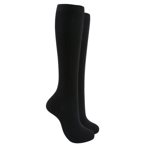 Soft cotton Knee high socks - Black color