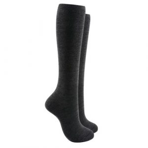 Soft cotton Knee high socks - Grey color