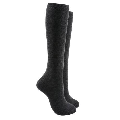 Soft cotton Knee high socks - Grey color