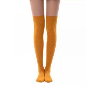 New soft cotton knee high socks - Yellow