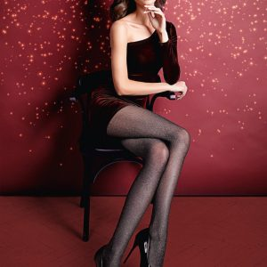 Lurex Rete 40 nero tights